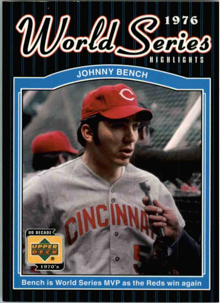 2001 Upper Deck Johnny Bench #177 card front image