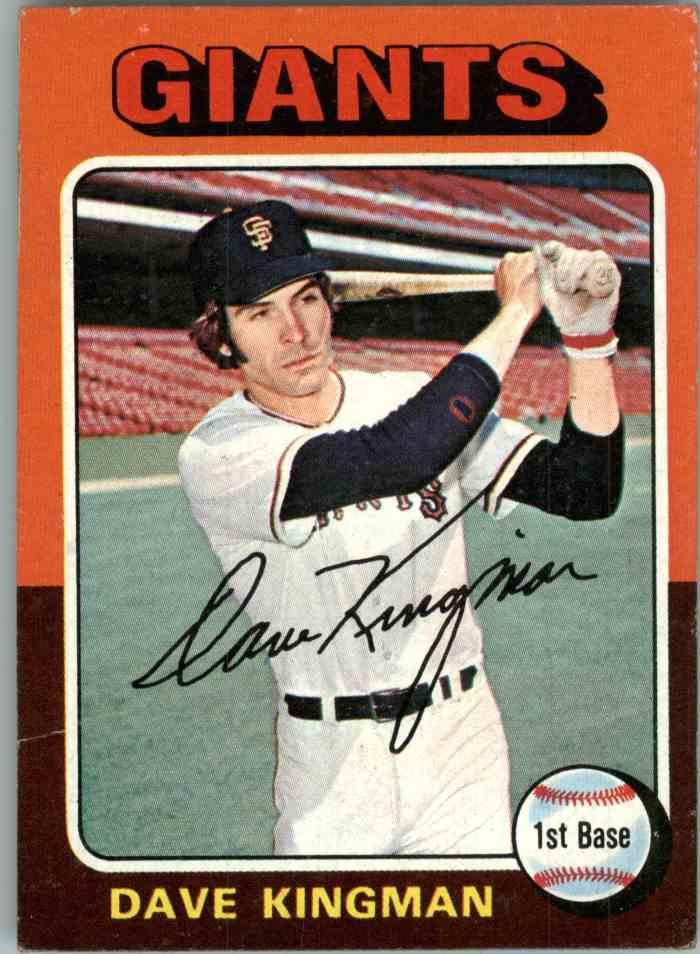 1975 Topps Mini Dave Kingman #156 card front image
