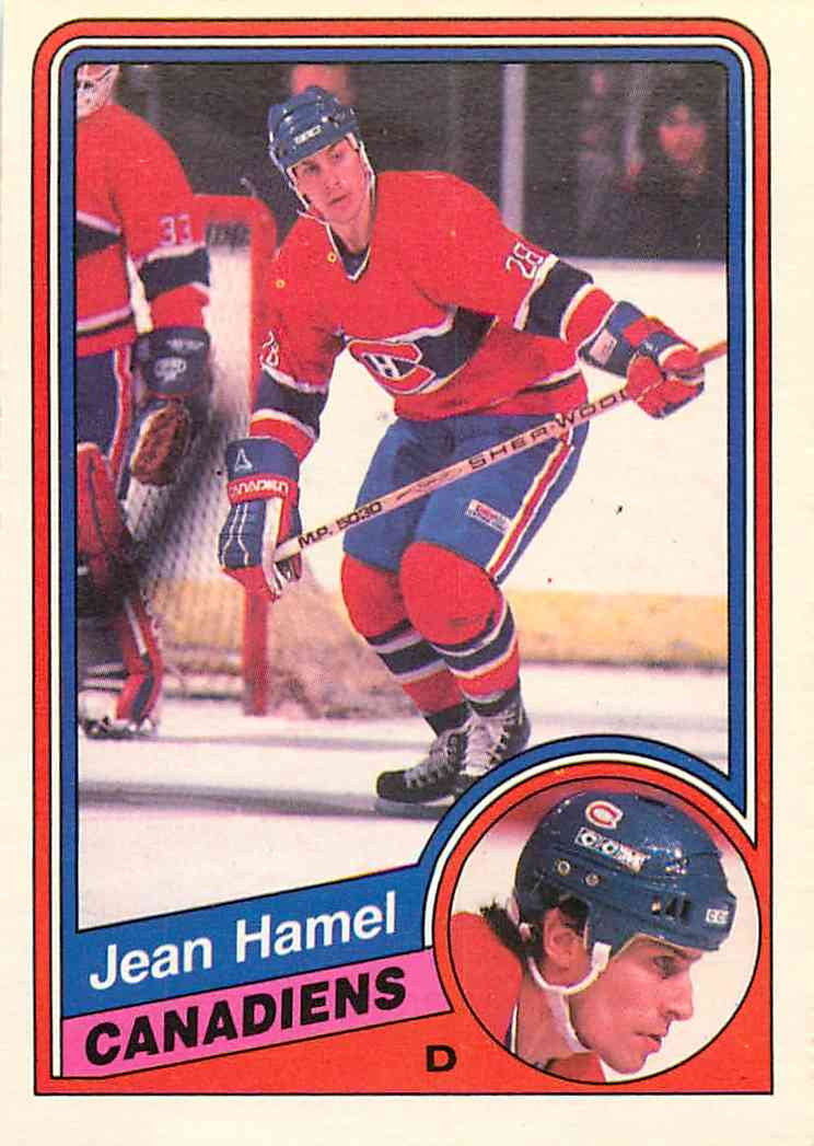 1984-85 O-Pee-Chee Jean Hamel #263 card front image