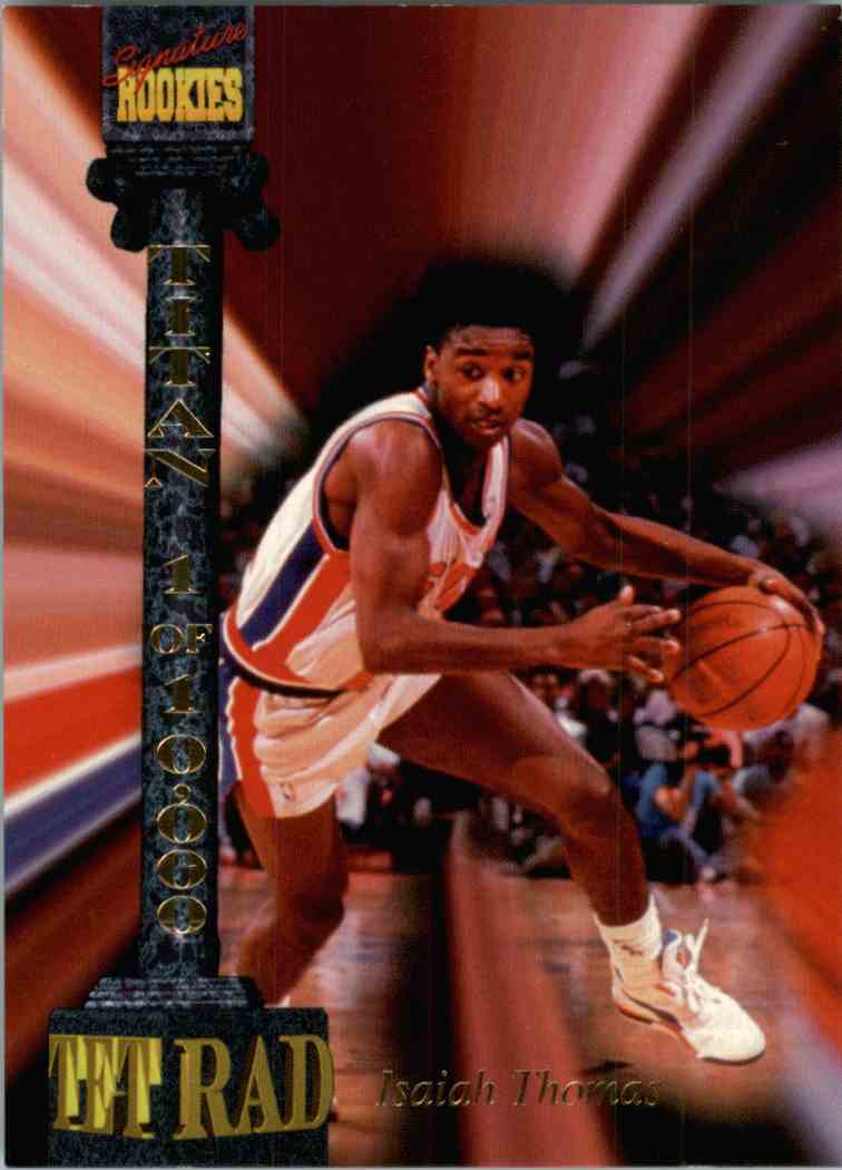 1994-95 Signature Rookies Isiah Thomas #CXXX card front image