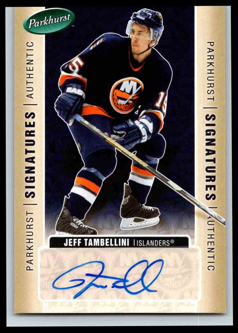 2005-06 Parkhurst Signatures Jeff Tambellini #JT card front image