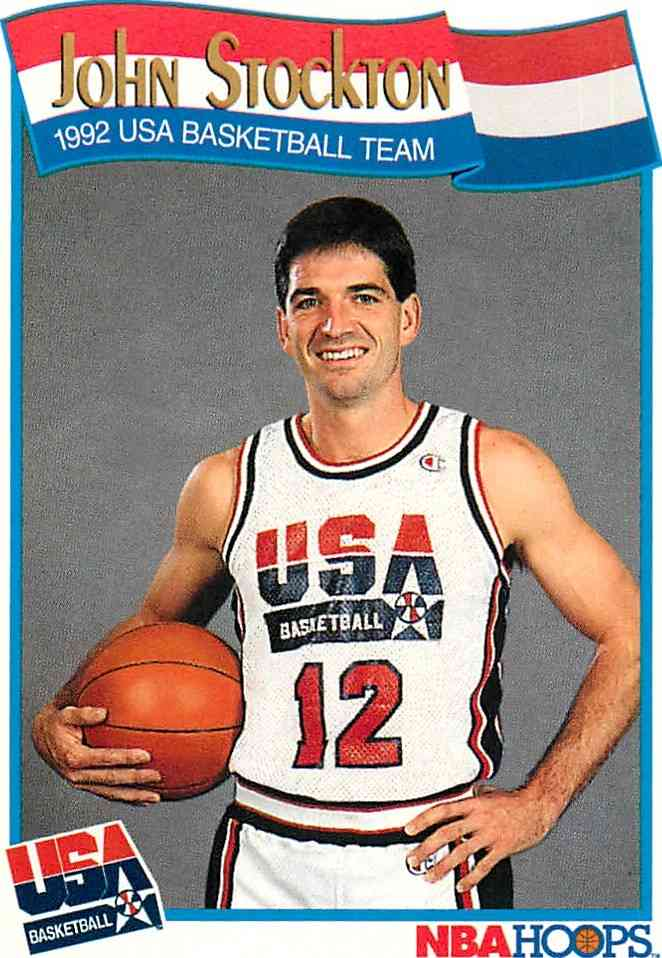 1991-92 Nba Hoops John Stockton #584 card front image