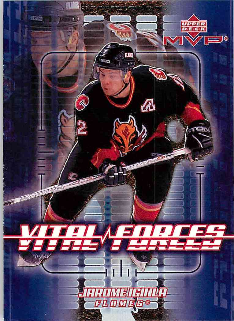 2002-03 Upper Deck Mvp Jarome Iginla #VF4 card front image