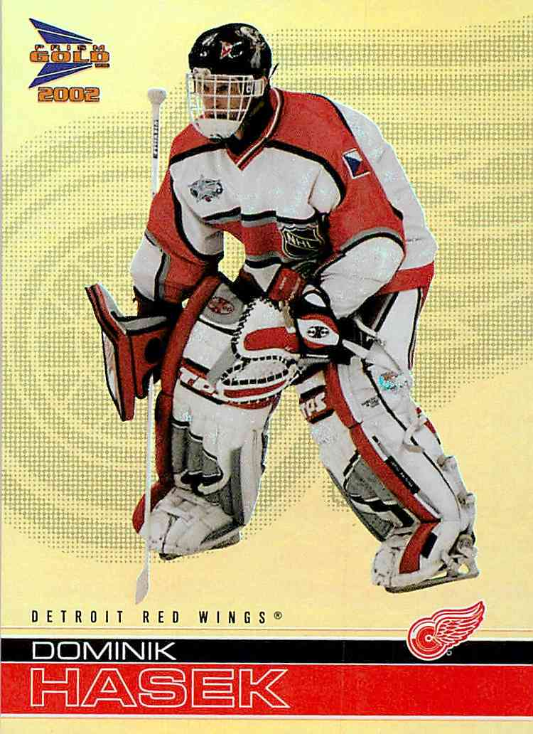 2001-02 Mcdonald's Pacific Dominik Hasek #12 card front image
