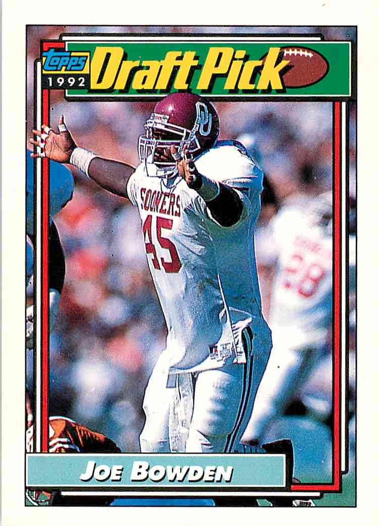 1992 Topps Joe Bowden #476 card front image