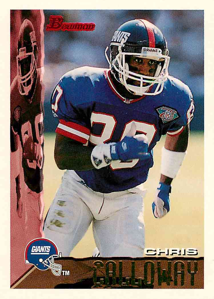1995 Bowman Chris Calloway #43 card front image