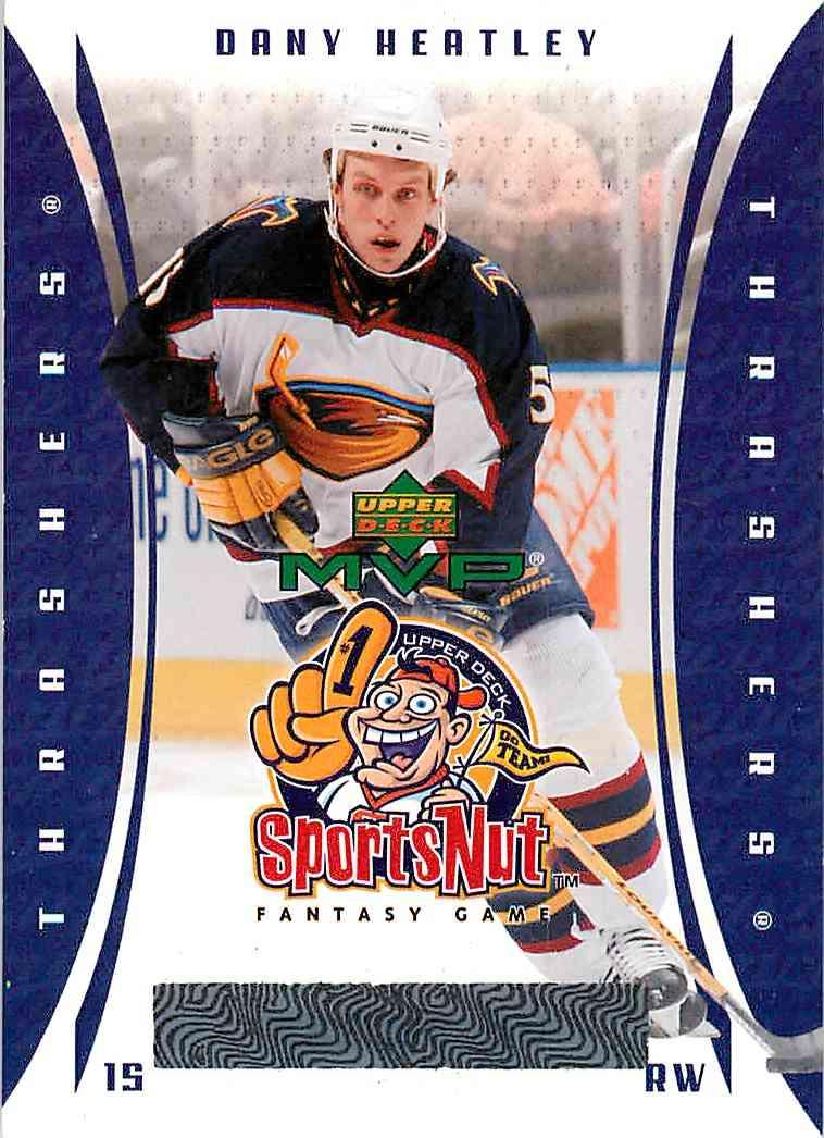 2003-04 Upper Deck Mvp Sportsnut Dany Heatley #SN 6 card front image