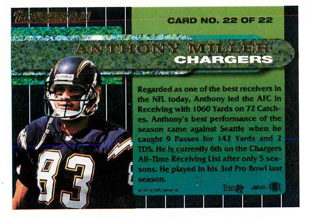 1993 Topps Black Gold Anthony Miller #22 card back image