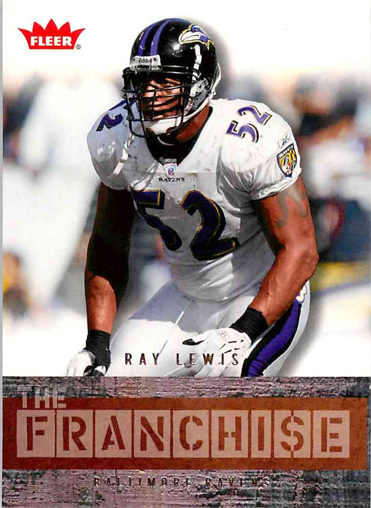 2006 Fleer The Franchise Ray Lewis #TFRL card front image
