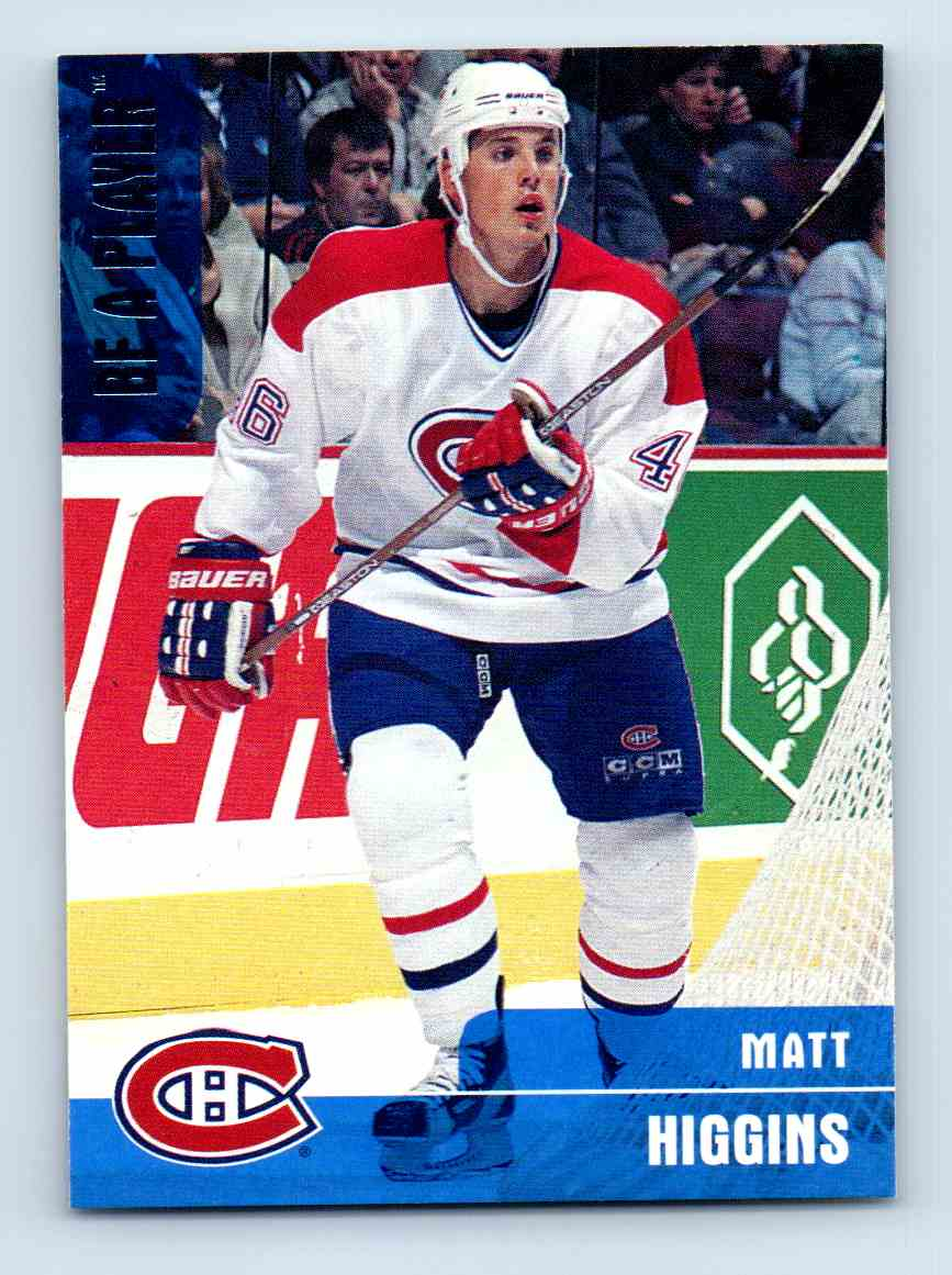 1999-00 Be A Player Matt Higgins #36 card front image