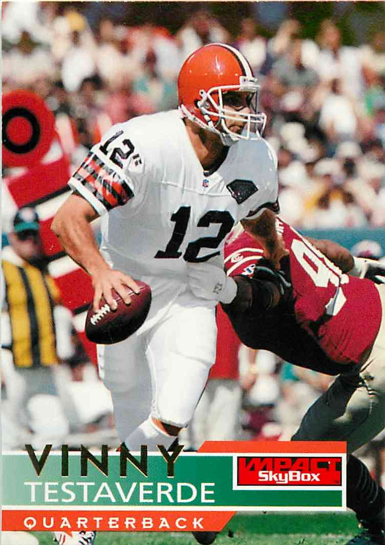 1995 Skybox Impact Vinny Testaverde #32 card front image