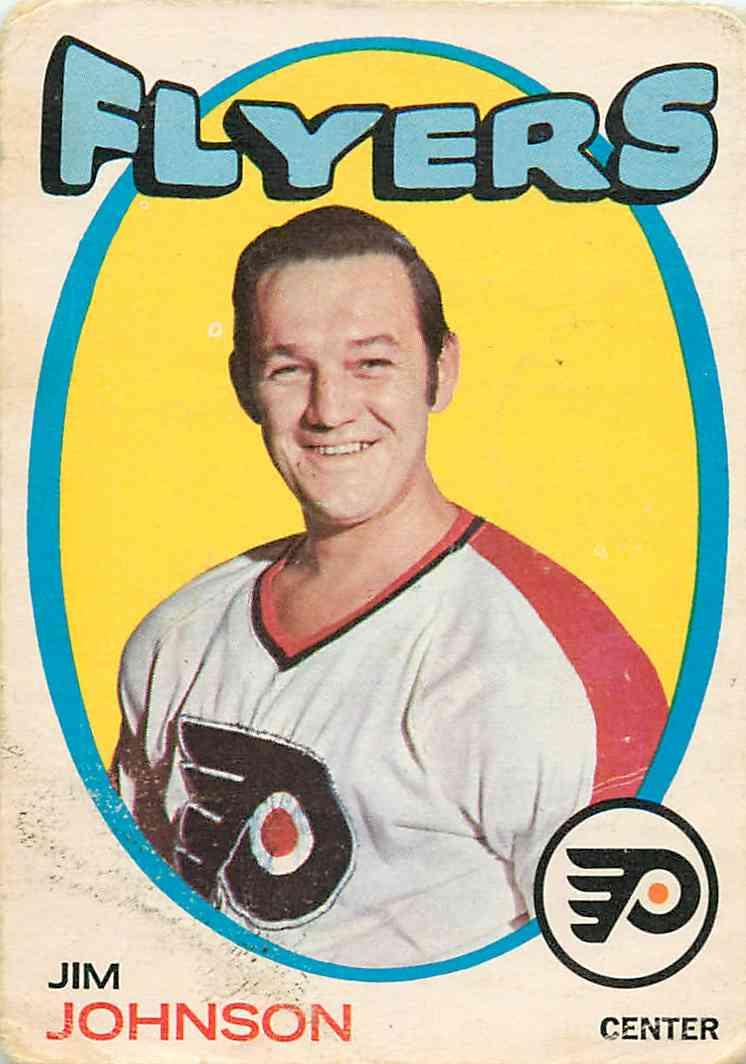 1971-72 O-Pee-Chee Jim Johnson #48 card front image