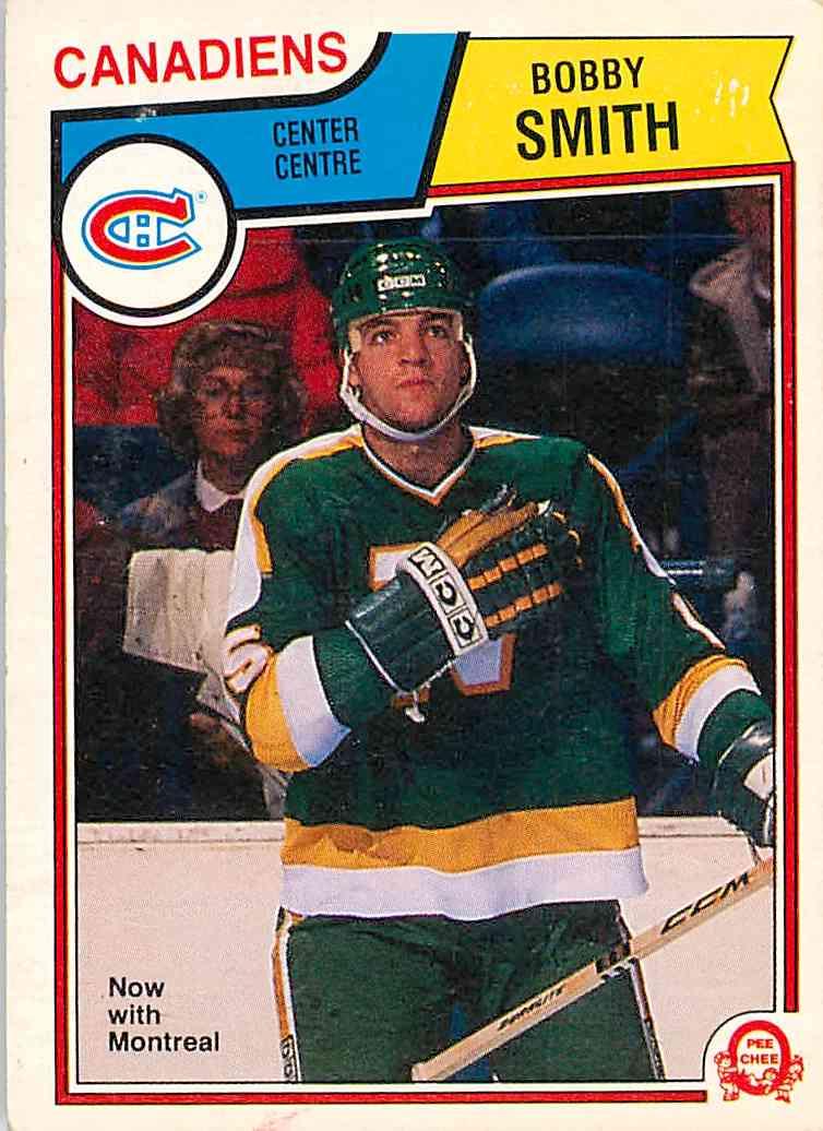 1984-85 O-Pee-Chee Bobby Smith #181 card front image
