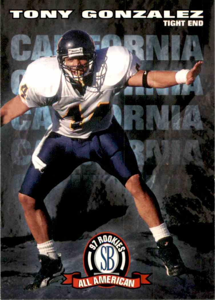 1997 Score Board NFL Rookies Tony Gonzalez AA #93 card front image