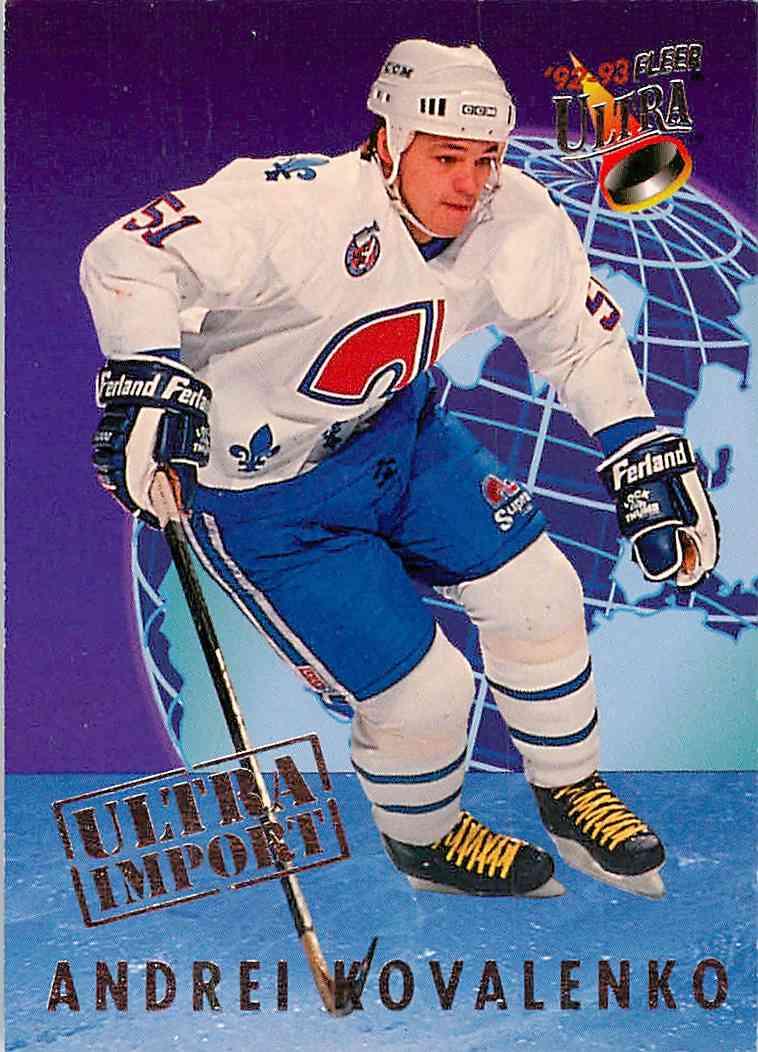 1991-92 Fleer Ultra Andrei Kovalenko #25 card front image