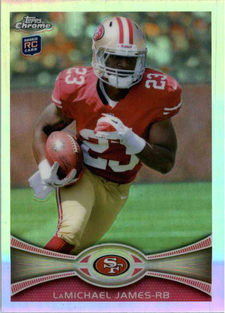 2012 Topps Chrome Lamichael James #191 card front image
