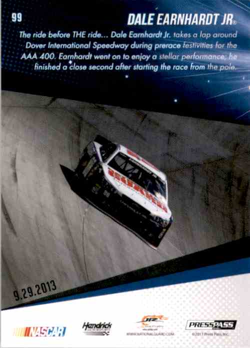 2014 Press Pass Dale Earnhardt JR. Ss #99 card back image