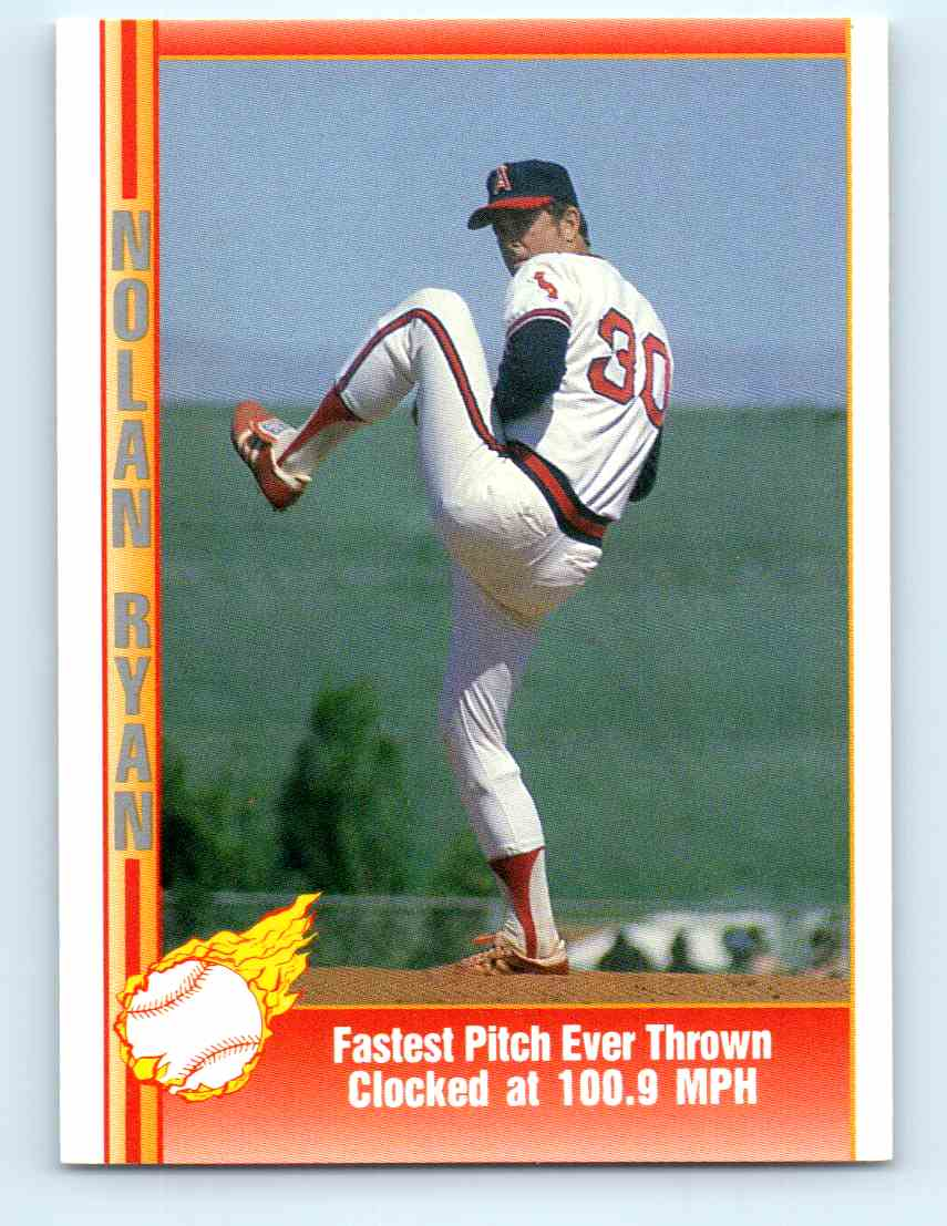 1991 Pacific Nolan Ryan Express Fastest Pitch Ever Thrown Clocked