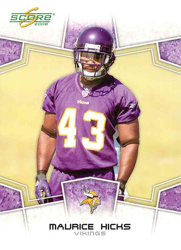 2008 Score Maurice Hicks #170 card front image