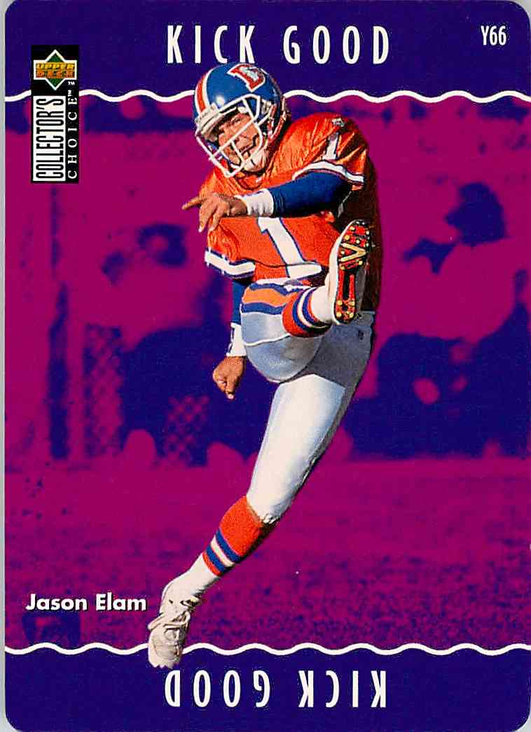 1996 Collector's Choice Jason Elam #Y66 card front image